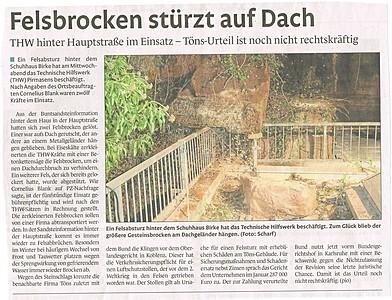 Pirmasenser Rundschau, 15.02.2013
